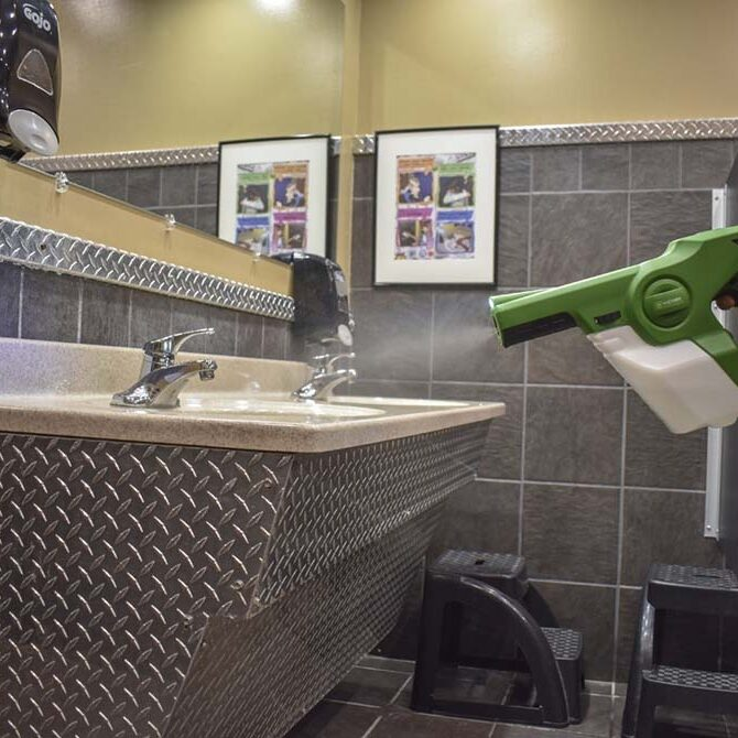 Ask about office sanitizing procedures.